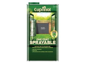 One Coat Sprayable Fence Treatment Silver Copse 5 litre